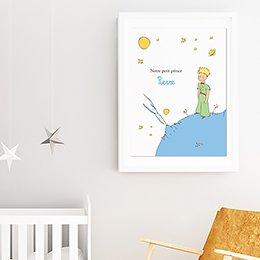 Affiche Déco Bébé Le Petit Prince 1 pas cher