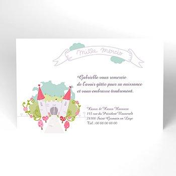Carte de Remerciement Naissance Petite Princesse original