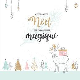 Faire-part de Naissance Noël Pastel pas cher