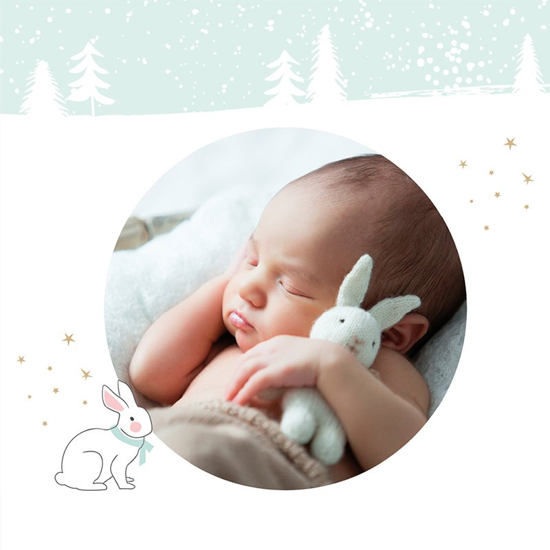 Faire-part de Naissance Noël Pastel gratuit