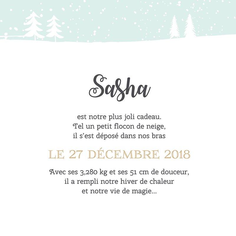 Faire-part de Naissance Noël Pastel