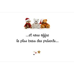 Faire-part de Naissance Ourson de Noël gratuit