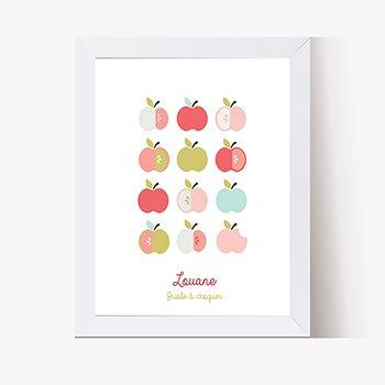 Affiche Déco Bébé Pomme d'amour pas cher