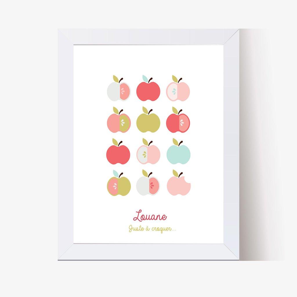 Affiche Déco Bébé Pomme d'amour