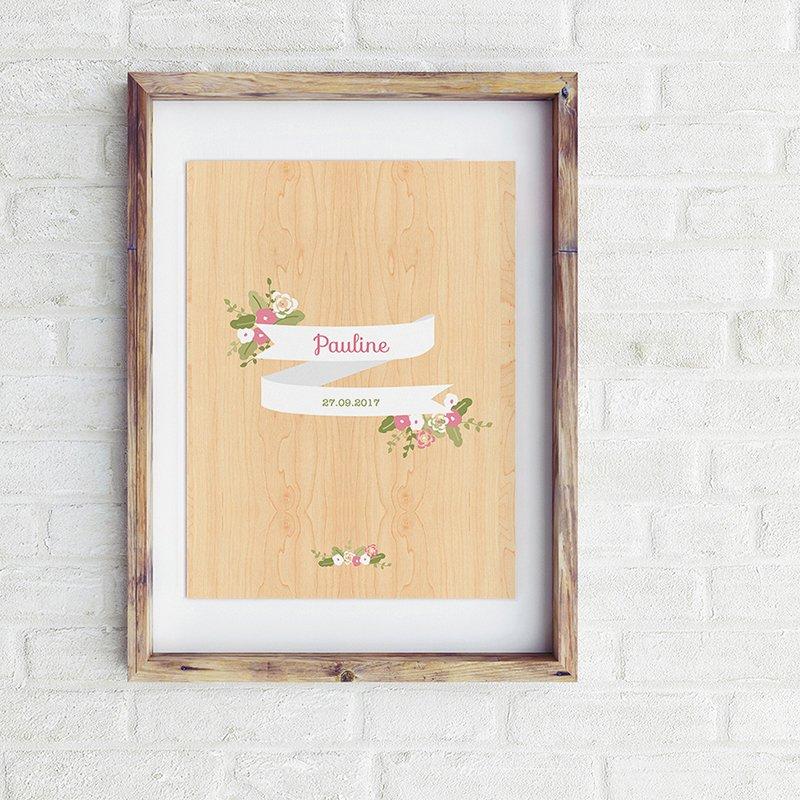 Affiche Déco Bébé Fleurs des Champs pas cher