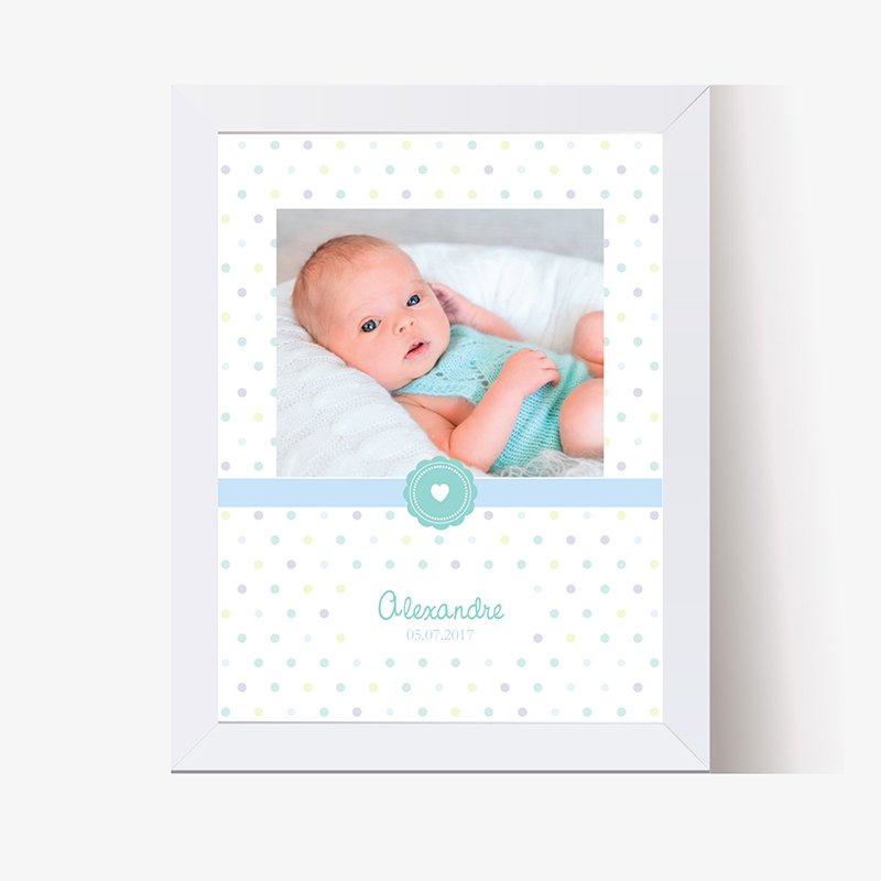 Affiche Déco Bébé Confettis
