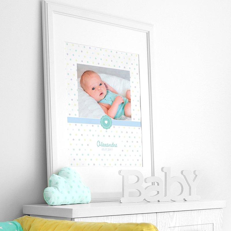 Affiche Déco Bébé Confettis pas cher