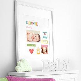 Affiche Déco Bébé Mémo pas cher