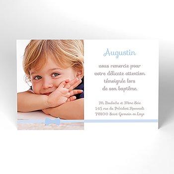 Carte de Remerciement Baptême Praline Baptême garçon personnalisé