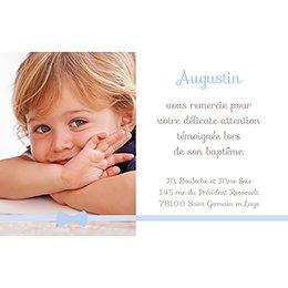 Carte de Remerciement Baptême Praline Baptême garçon pas cher