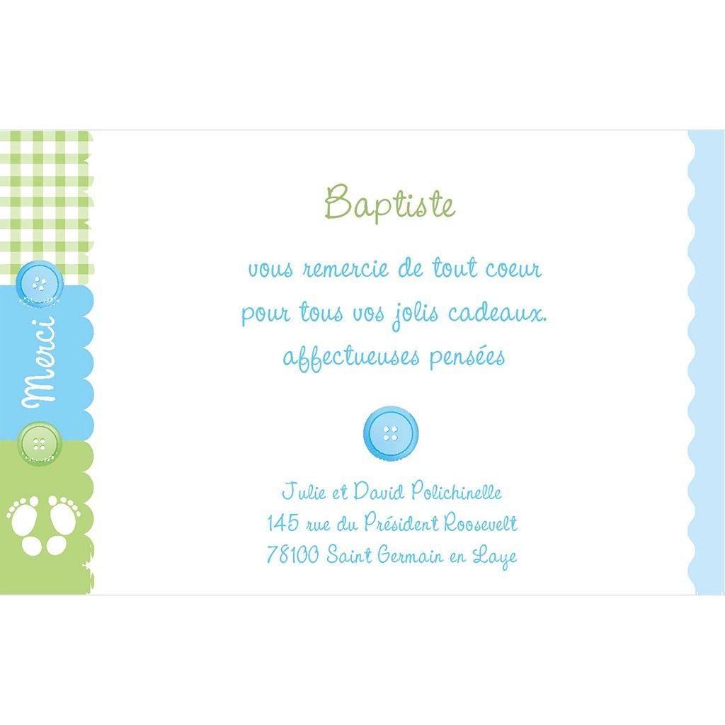 Carte de Remerciement Naissance SweetBaby pas cher