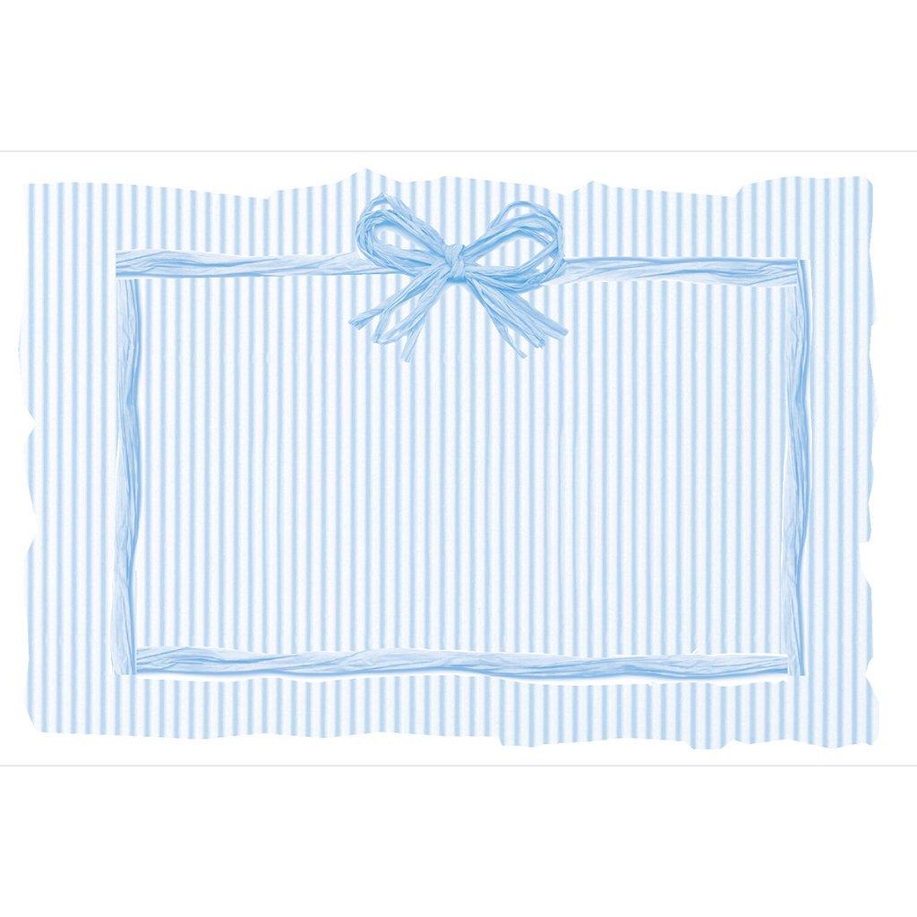 Faire-part de Naissance Raphia Pastel bleu pas cher