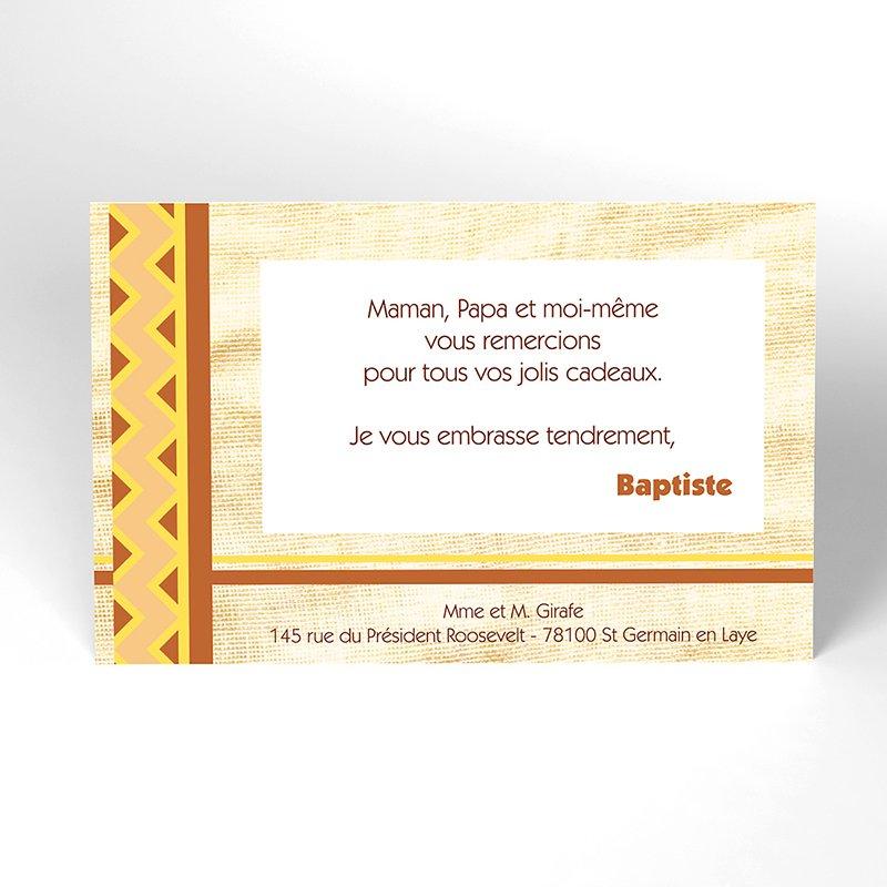 Carte de Remerciement Naissance Kirikou 15