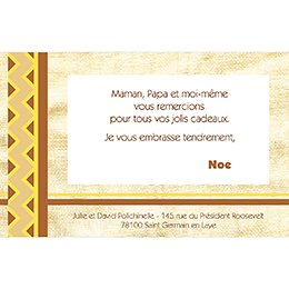 Carte de Remerciement Naissance Kirikou 15 pas cher