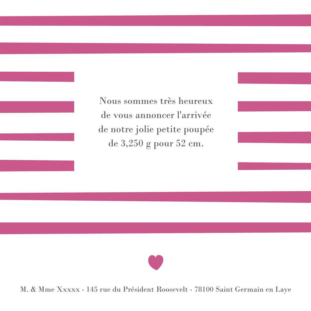 Faire-part de Naissance Love gratuit