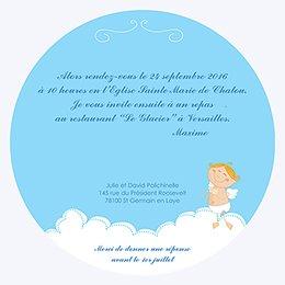 Faire-part de Baptême Petit Ange gratuit
