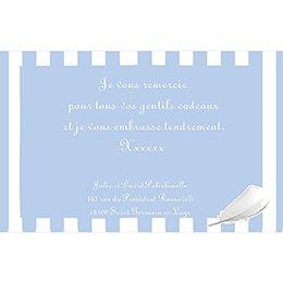 Carte de Remerciement Naissance Cosy bleu pas cher