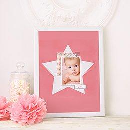 Affiche Déco Bébé Etoile Pastel Fille pas cher
