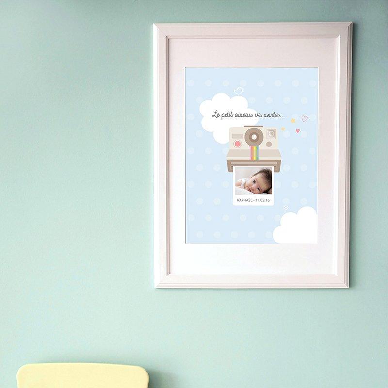Affiche Déco Bébé Polaroid pas cher