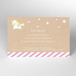 Carte de Remerciement Naissance Petite Licorne