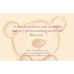 Carte de Remerciement Naissance Teddy pas cher