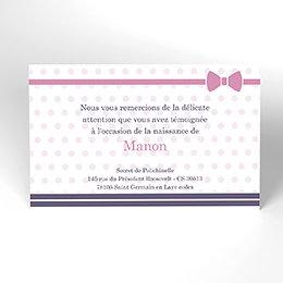 Carte de Remerciement Naissance Petite Marinette