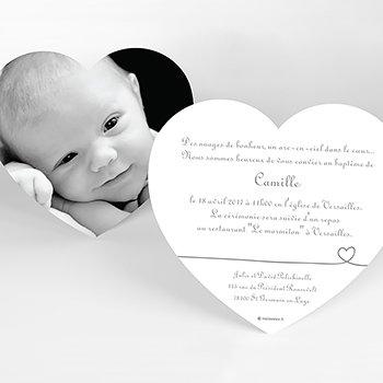 Faire-part de Baptême Bébé d'amour baptême personnalisé