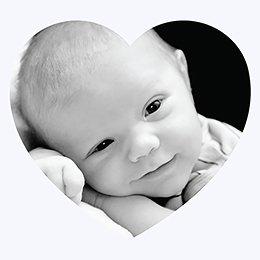 Faire-part de Baptême Bébé d'amour baptême pas cher