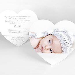 Faire-part de Naissance Bébé d'Amour