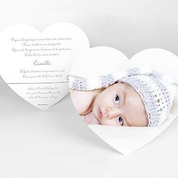 Faire-part de Naissance Bébé d'Amour pas cher