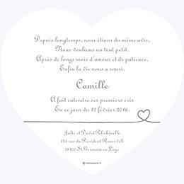 Faire-part de Naissance Bébé d'Amour gratuit