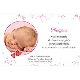 Carte de Remerciement Naissance Bol d'Amour pas cher