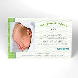 Carte de Remerciement Naissance Babyfoot