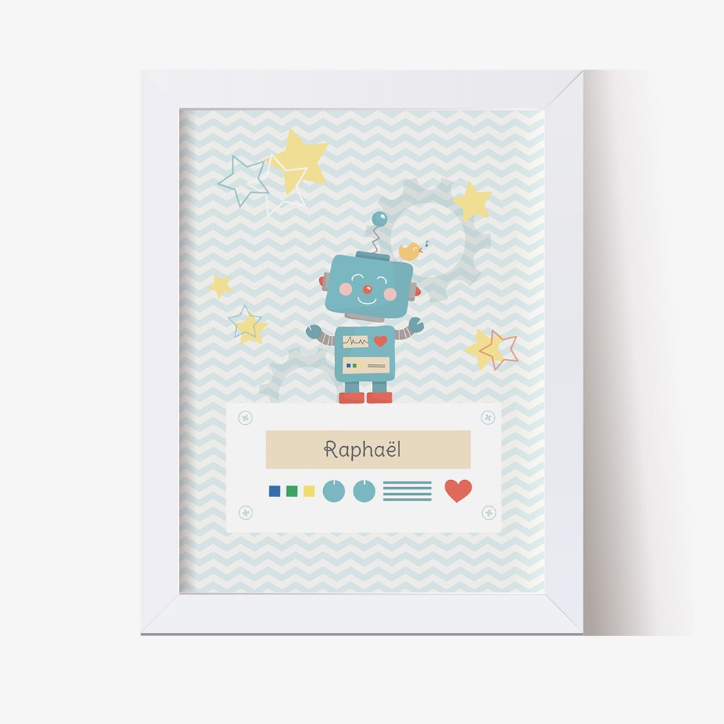 Affiche Déco Bébé Petit Robot