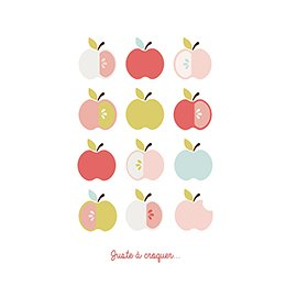 Faire-part de Naissance Pomme d'amour pas cher