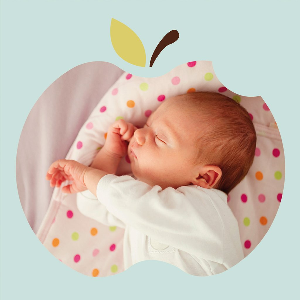 Faire-part de Naissance Pomme d'amour gratuit
