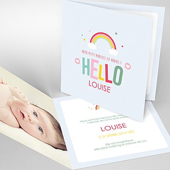 Faire-part de Naissance Happiness original