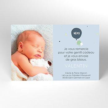 Carte de Remerciement Naissance Mignon
