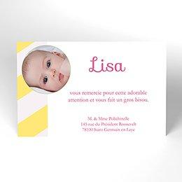 Carte de Remerciement Naissance Carrousel fille