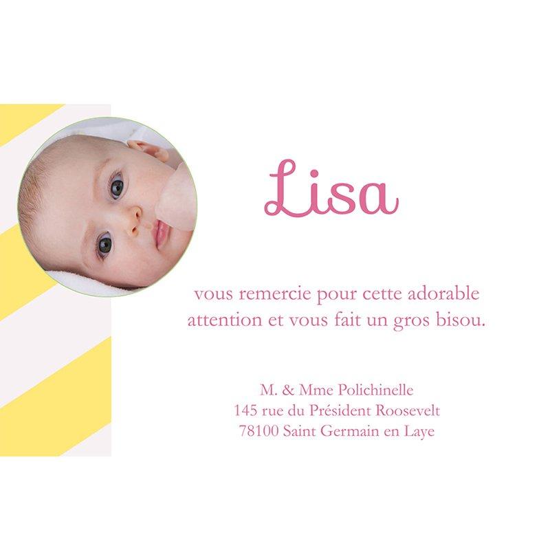 Carte de Remerciement Naissance Carrousel fille pas cher