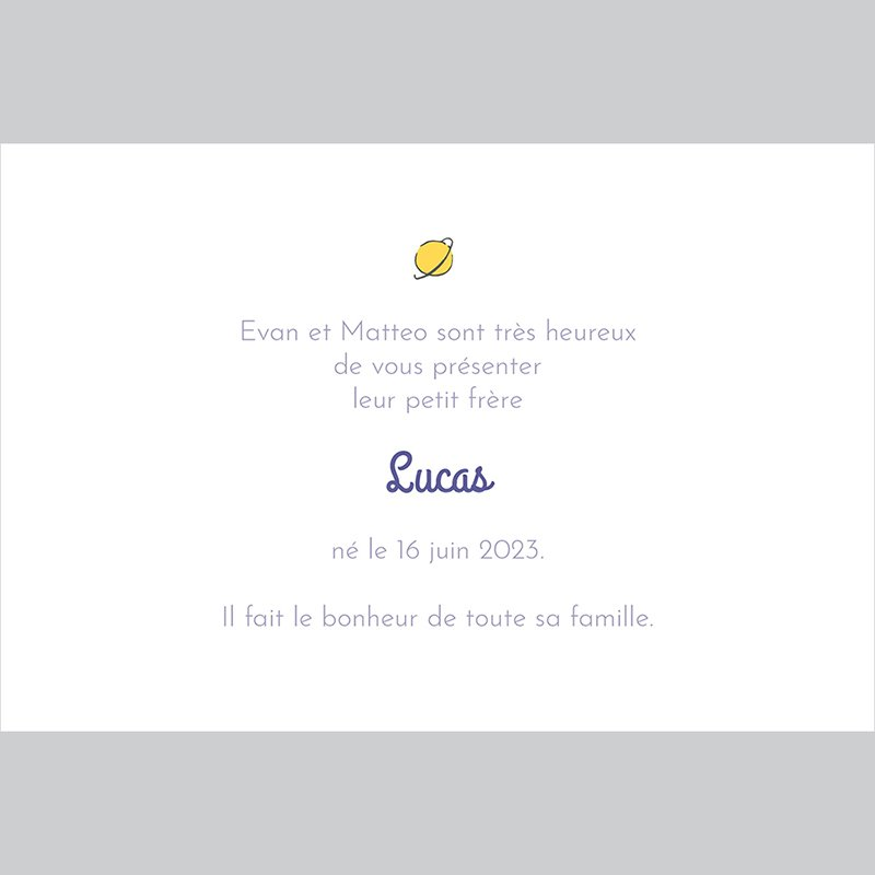 Faire-part de Naissance Le champ de roses du Petit Prince
