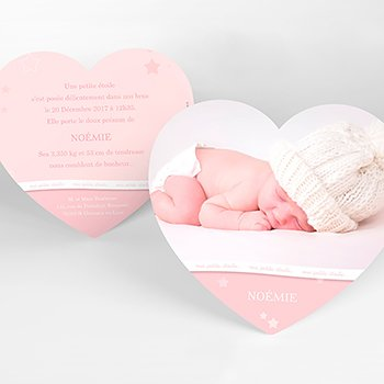 Faire-part de Naissance Tendresse original