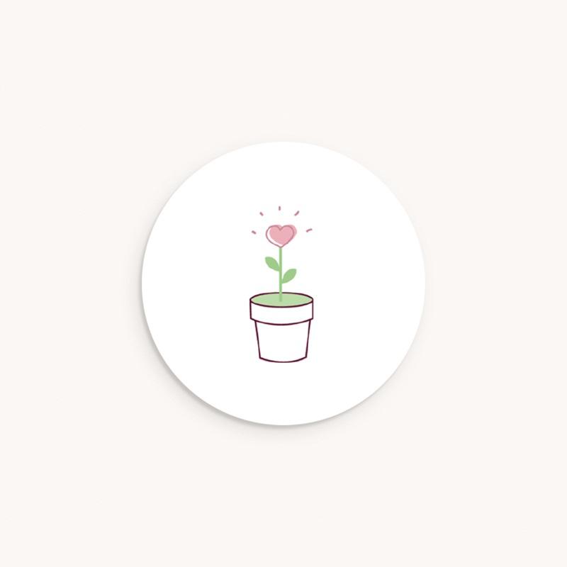 Sticker Enveloppe Naissance Chou-Fleur, éclosion d'amour