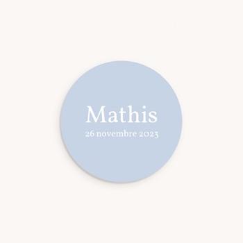 Sticker Enveloppe Naissance Instantané Garçon, bleu ciel