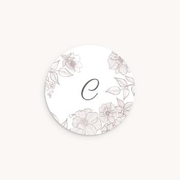 Sticker Enveloppe Naissance Elégance, initiale bébé original