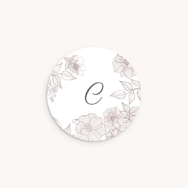 Sticker Enveloppe Naissance Elégance, initiale bébé