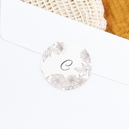 Sticker Enveloppe Naissance Elégance, initiale bébé gratuit