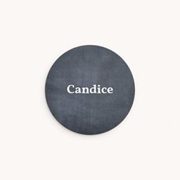 Sticker Enveloppe Naissance Ardoise Fille, Bienvenue bébé