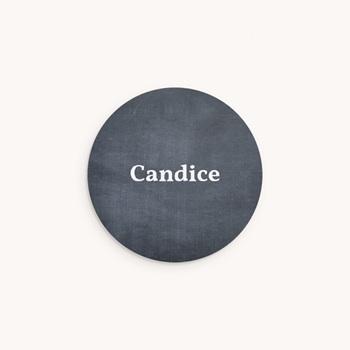 Sticker Enveloppe Naissance Ardoise Fille, Bienvenue bébé personnalisé