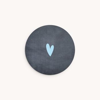Sticker Enveloppe Naissance Ardoise jumeaux, Bienvenus Bébés
